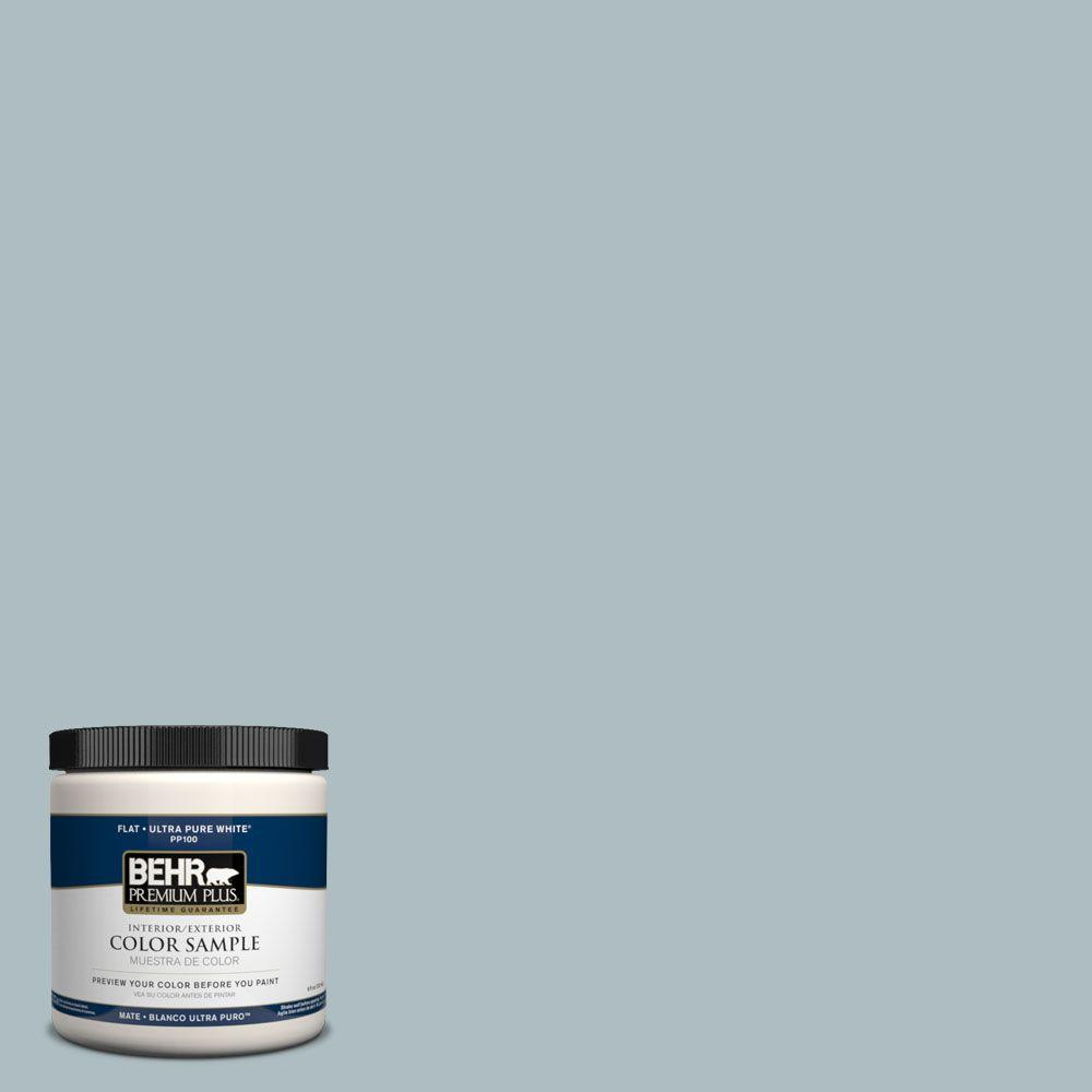 BEHR Premium Plus 8 oz. #PMD-99 Arctic Ocean Interior/Exterior Paint Sample