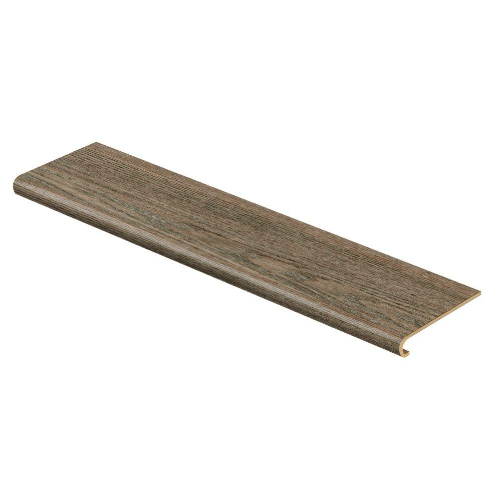Cap A Tread Grey Oak 47 in. Long x 12-1/8 in. Deep x 1-11/16 in. Height Vinyl to Cover Stairs 1 in. Thick