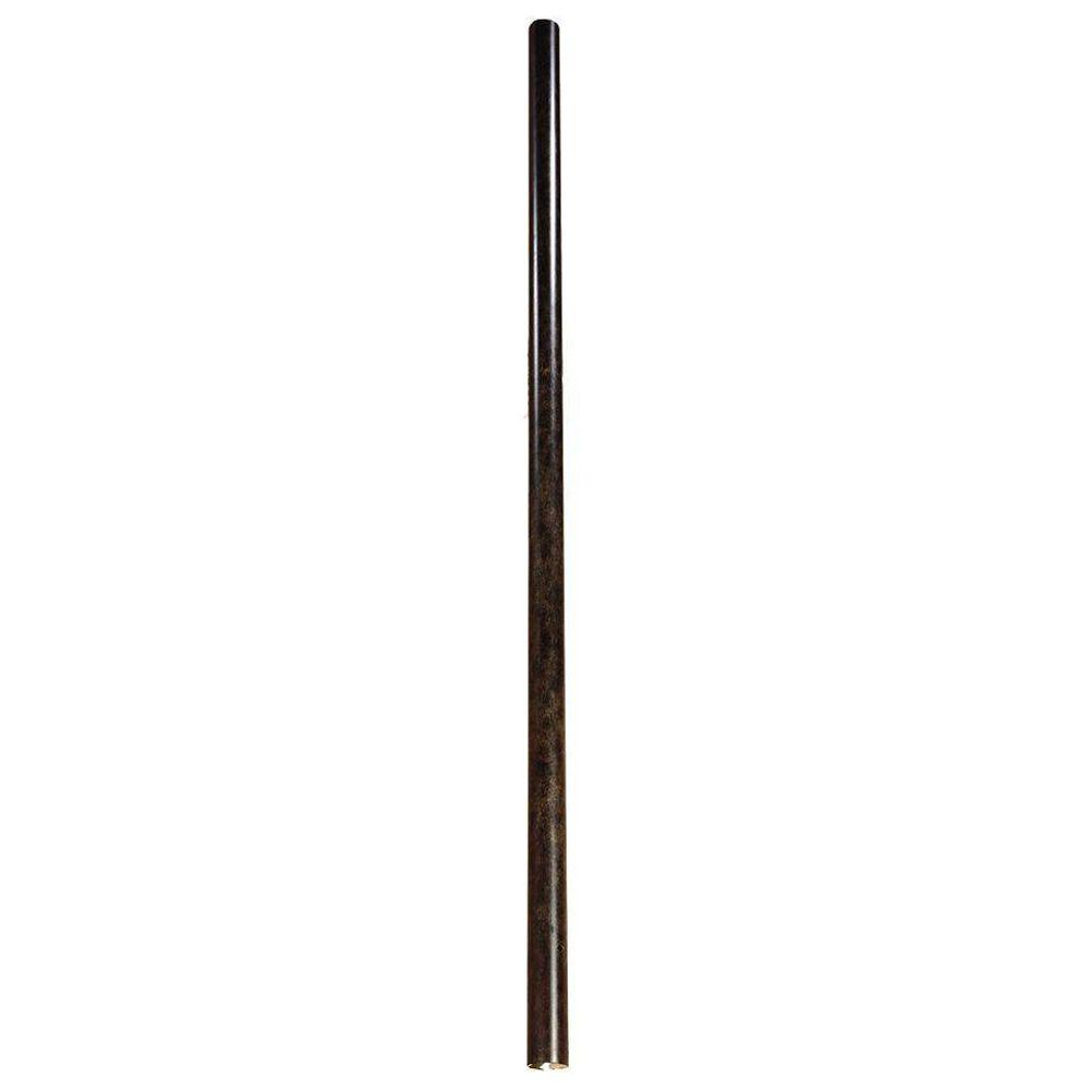 Acclaim Lighting Direct Burial Posts & Accessories Collection 8 ft. Smooth Black Coral Lamp Post