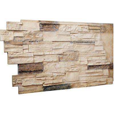 1-1/2 in. x 48 in. x 25 in. Sonora Desert Urethane Dry Stack Stone Wall Panel