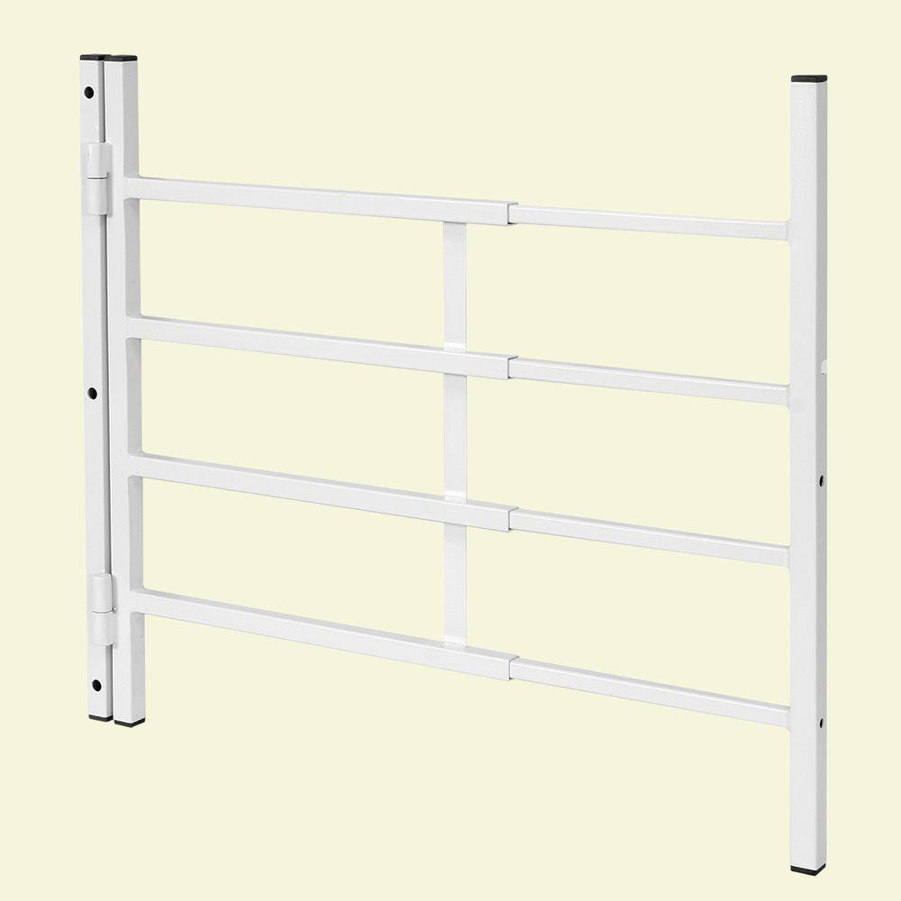 Segal 21 in. Hinged 4-Bar Window Grill (Width Expandable)