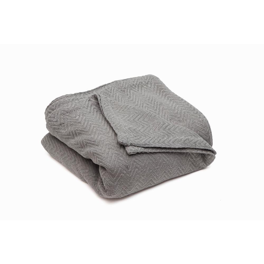 Josie Cotton Full/Queen Throw Blanket in Grey