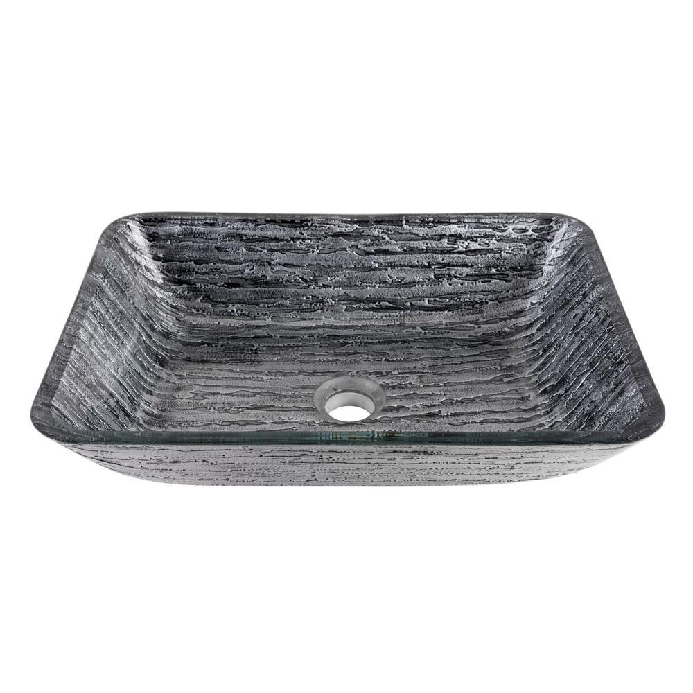 VIGO Rectangular Vessel Sink In Titanium