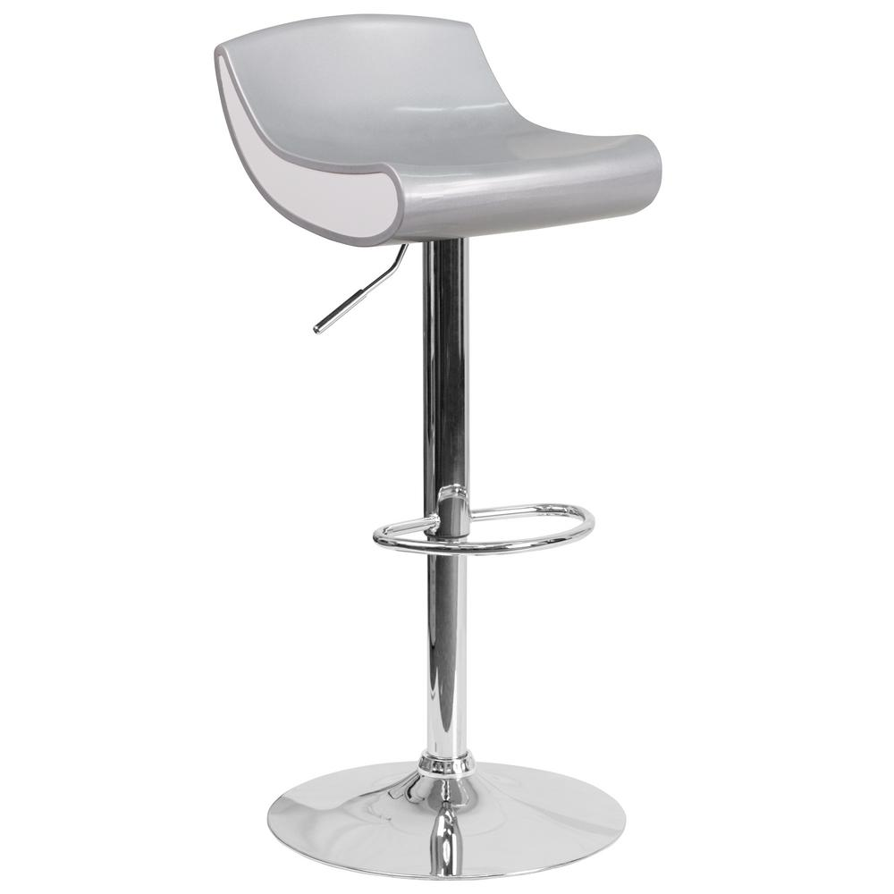 Chrome Bar Stools ~ Flash furniture adjustable height chrome bar stool