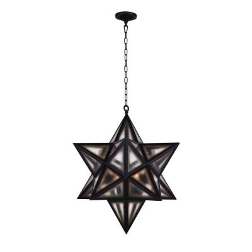 Astoria 3-Light Black Chandelier