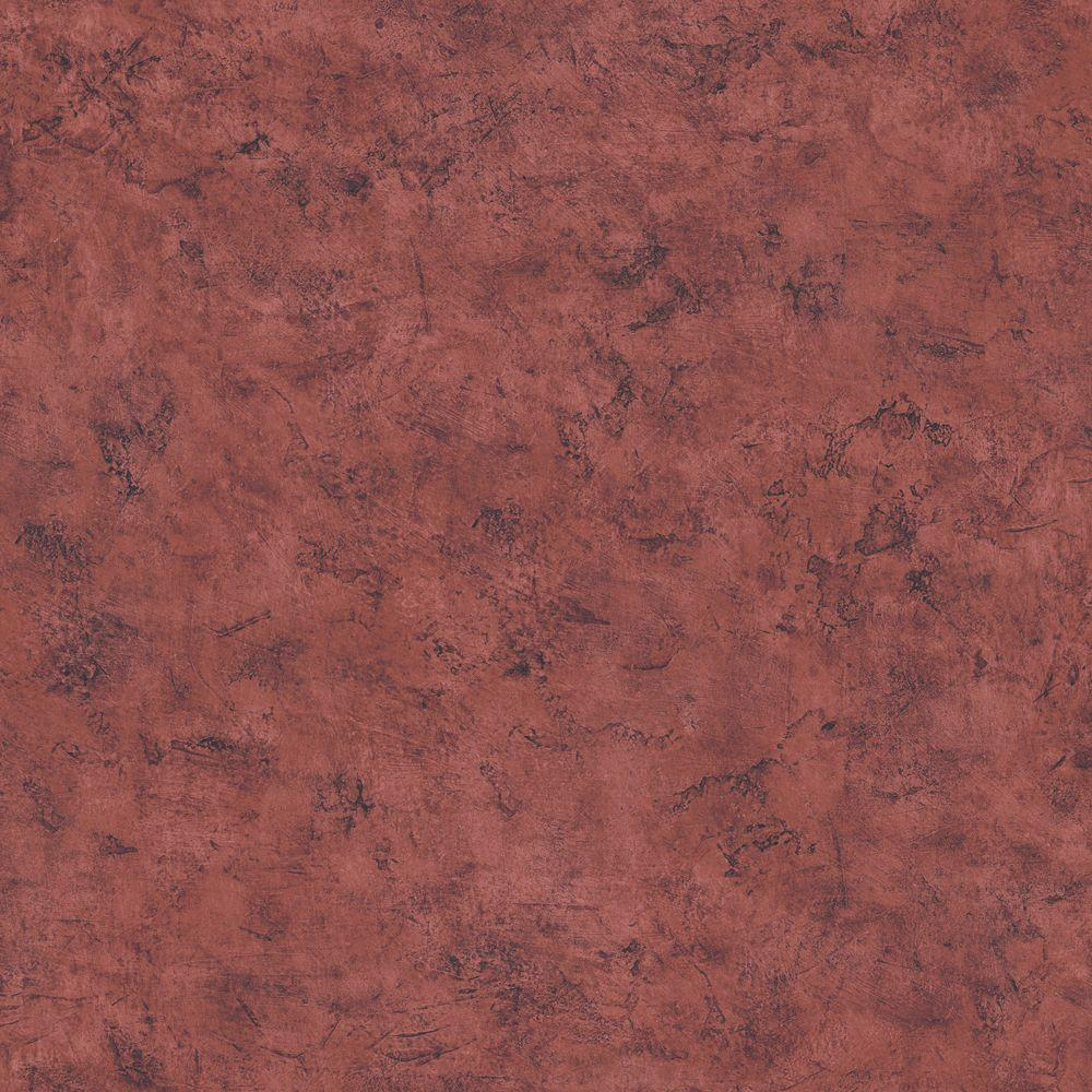 The Wallpaper Company 56 sq. ft. Purple Venetian Plaster Wallpaper-DISCONTINUED