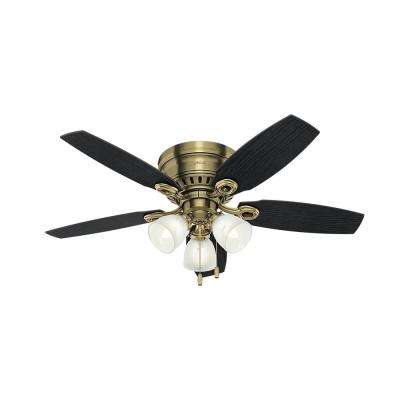 Hatherton 46 in. Indoor Antique Brass Ceiling Fan with Light Kit