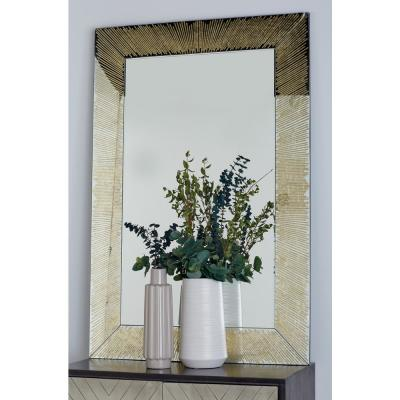 Litton Lane Rectangular Gold Door/Wall Mirror