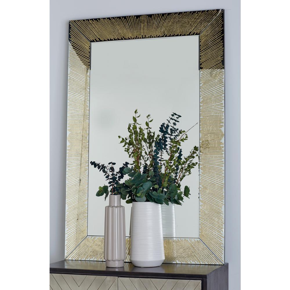 Rectangular Gold Door/Wall Mirror