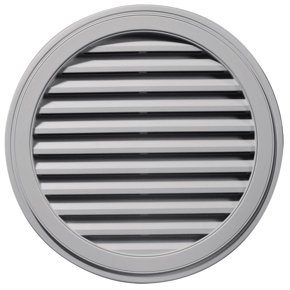 Builders Edge 36 in. Round Gable Vent in Gray
