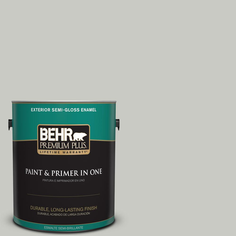 BEHR Premium Plus 1-gal. #N380-2 Heath Gray Semi-Gloss Enamel Exterior Paint