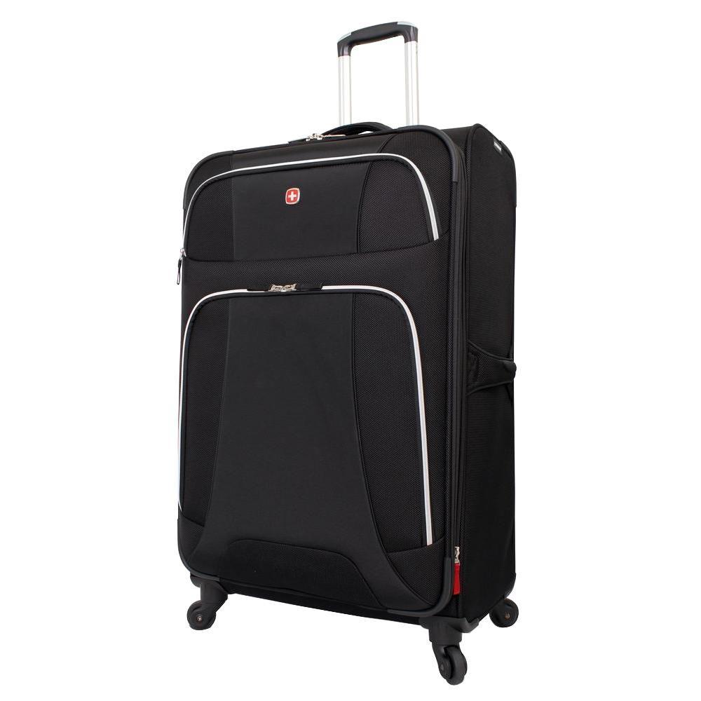 Monte Leone 29 in. Black Spinner Suitcase