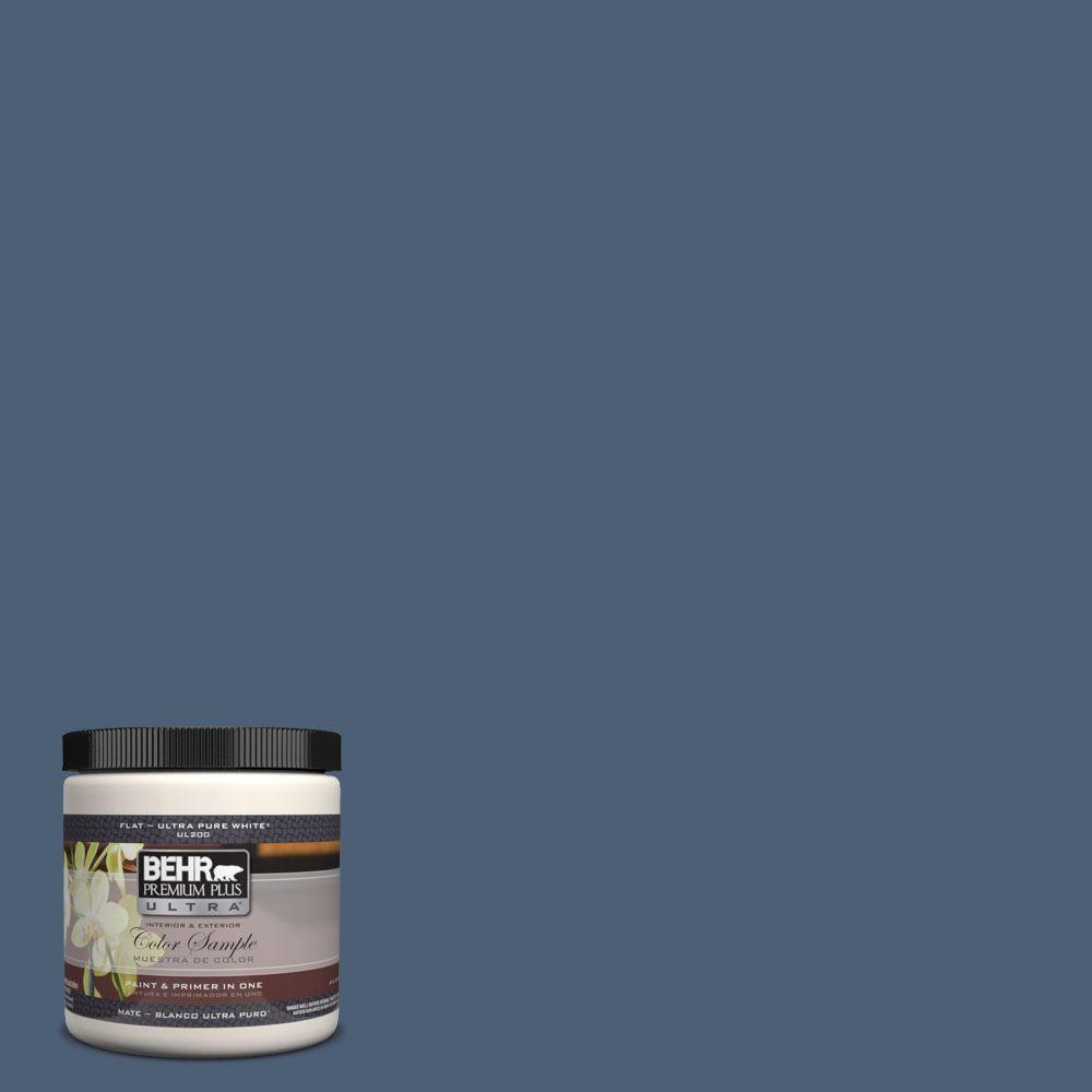 BEHR Premium Plus Ultra 8 oz. #UL230-2 English Channel Interior/Exterior Paint Sample