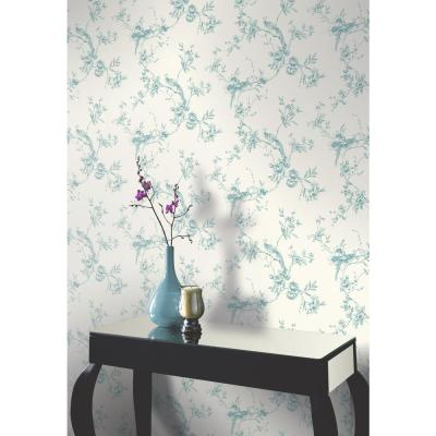 Chinoise Teal Wallpaper