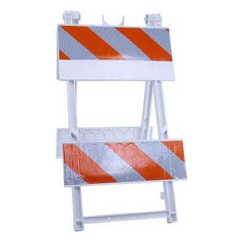 8/8 in. High-Intensity Sheeting Plastic Type II Folding Barricade