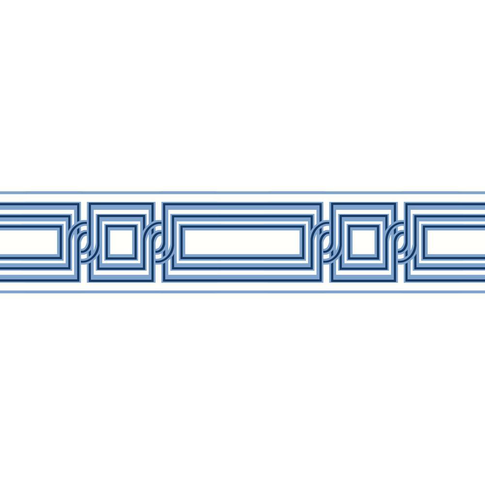 Meditation Border white/blue/navy Wallpaper Border