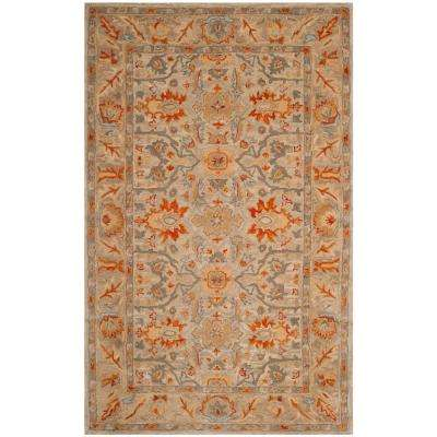 Antiquity Beige/Multi 6 ft. x 9 ft. Area Rug