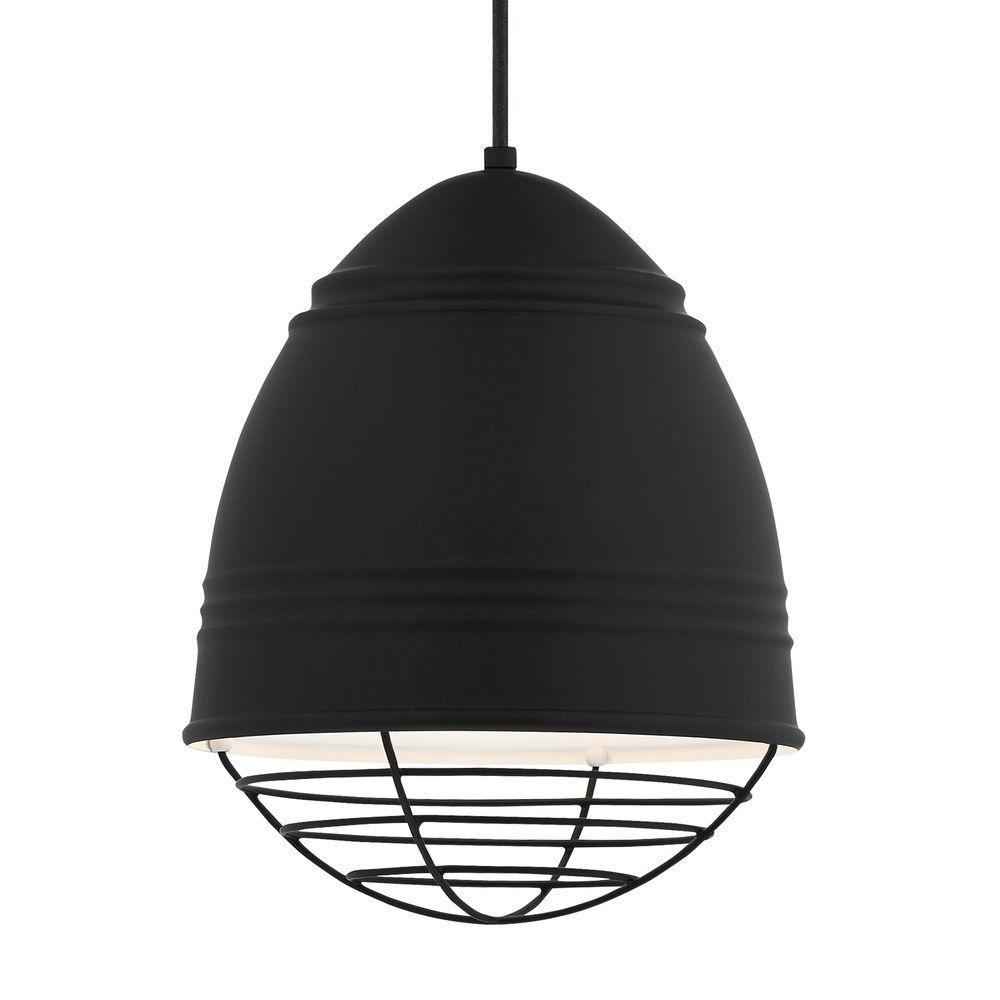 Black - Black - LED - Pendant Lights - Lighting - The Home Depot