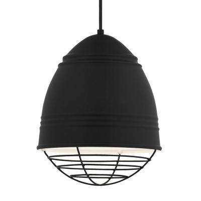 Loft 1-Light Black Led Line-Voltage Pendant