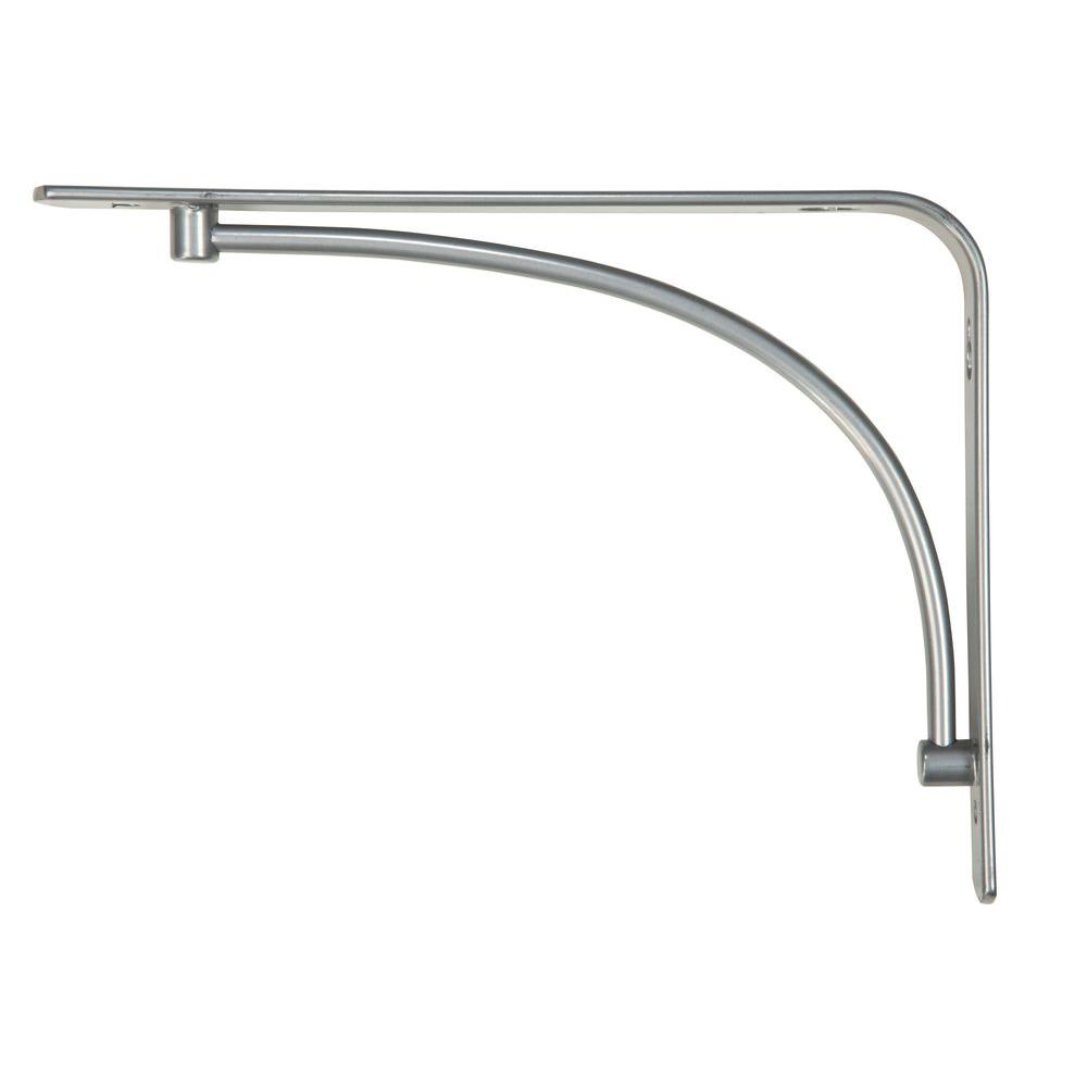 Satin Nickel Steel Arch Decorative Shelf Bracket