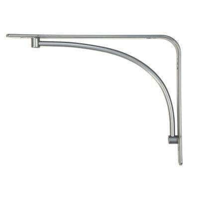 6 in. x 8 in. Satin Nickel Steel Arch Decorative Shelf Bracket