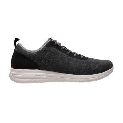 Men's Size 12 Charcoal Wool Casual Shoes