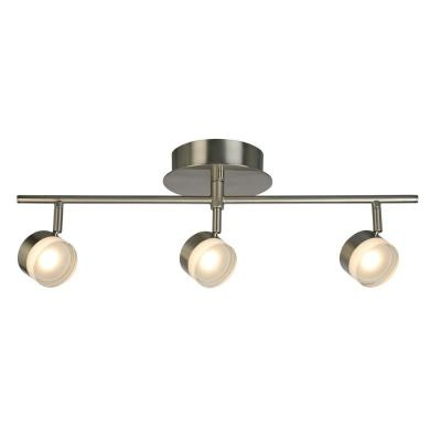 Newport Hill 18-Watt 23 inch 3LT Brushed Nickel Semi-Flushmount LED Fixed Track