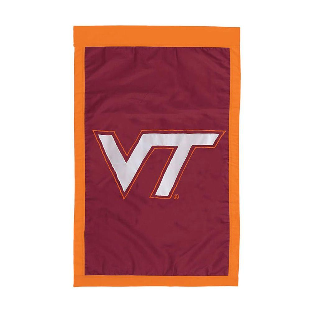 Fan Essentials NCAA 28 in. x 44 in. Virginia Tech University Applique House Flag