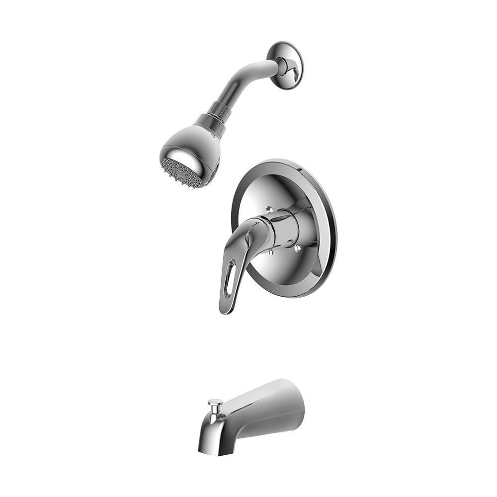 Prestige Collections 1-Handle Tub and Shower Trim Kit in Chrome with Slip-On Diverter Spout (Valve Not Included)
