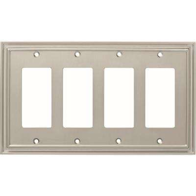 Silverton 4-Gang Decorator, Satin Nickel