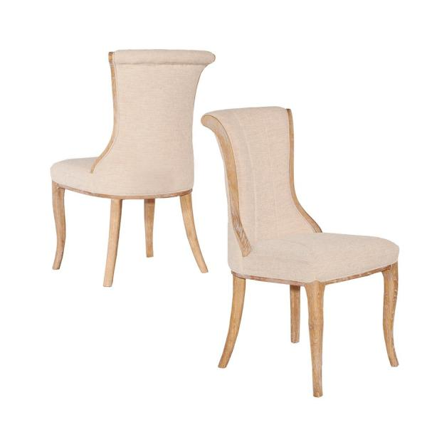 Ford Linen Flared Back Chair (Set of 2)