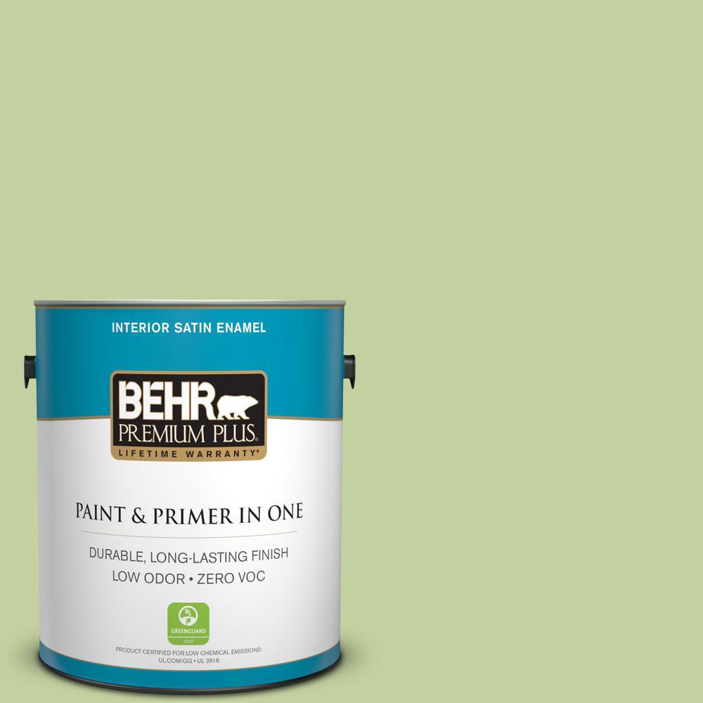 BEHR Premium Plus 1-gal. #P370-4 Cricket Field Satin Enamel Interior Paint