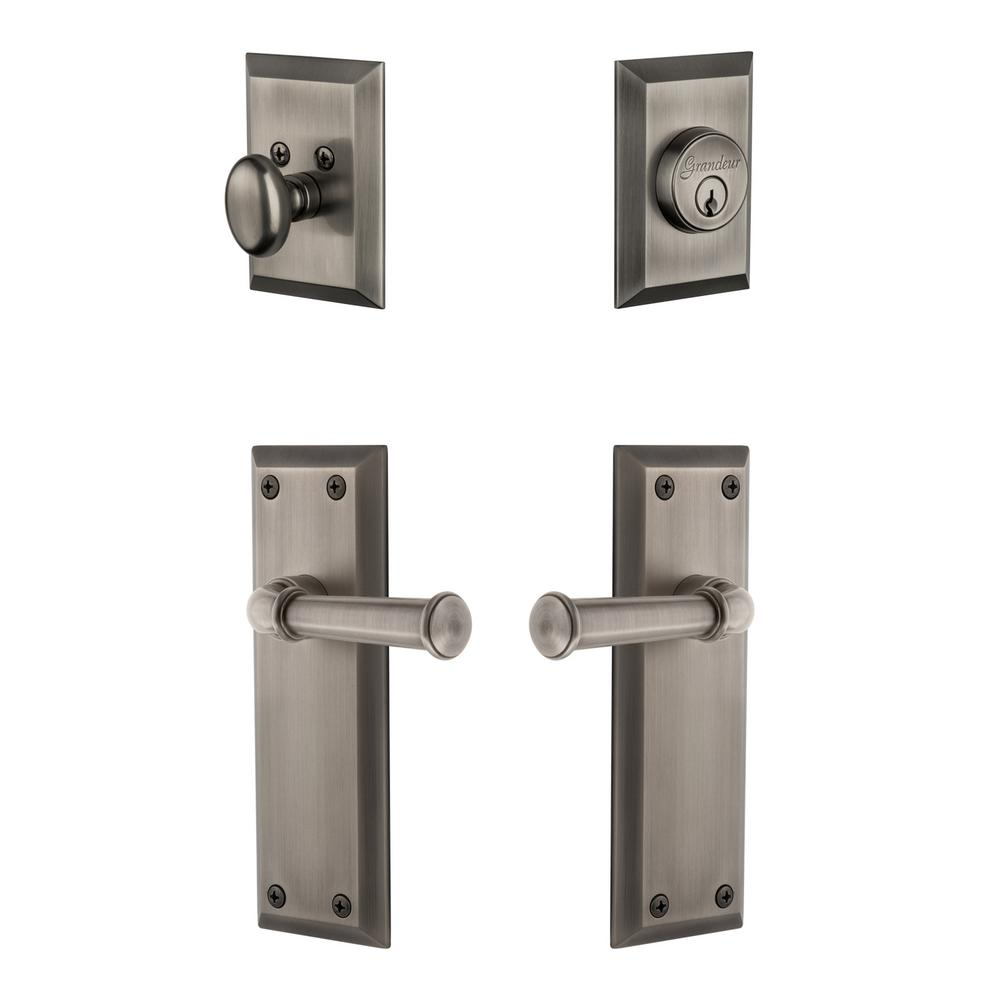 Schlage Accent Antique Pewter Keypad Electronic Door Lever