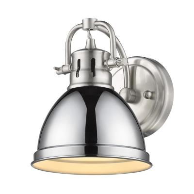 Duncan 4.875 in. 1-Light Pewter Vanity Light