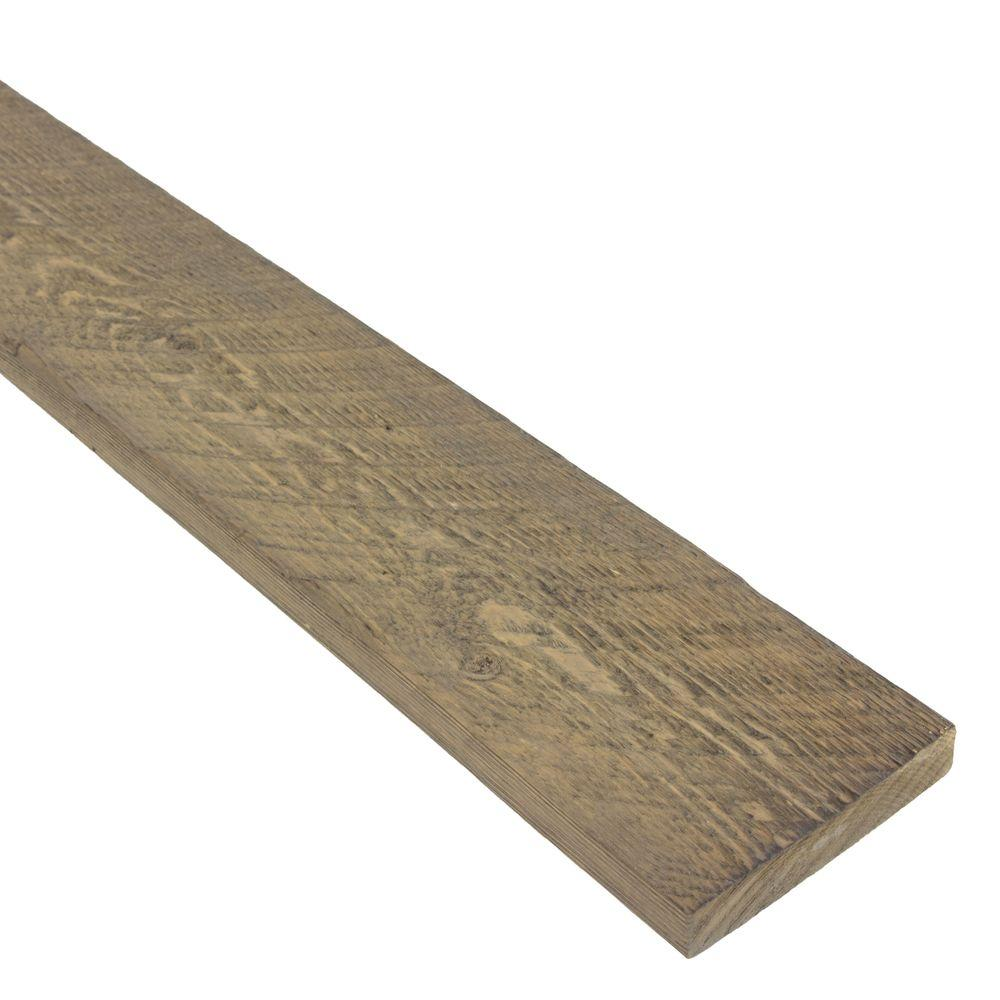 Ghost Wood 1 in. x 4 in. x 8 ft. Silver City Wood Trim