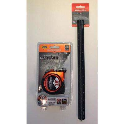 16 ft. Pro Scribe Tape Measure with Architect's 12 in. Scale Ruler (Value Pack)