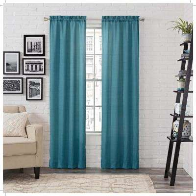 Light Filtering Peacock Smooth Poly/Cotton Rod Pocket Curtain