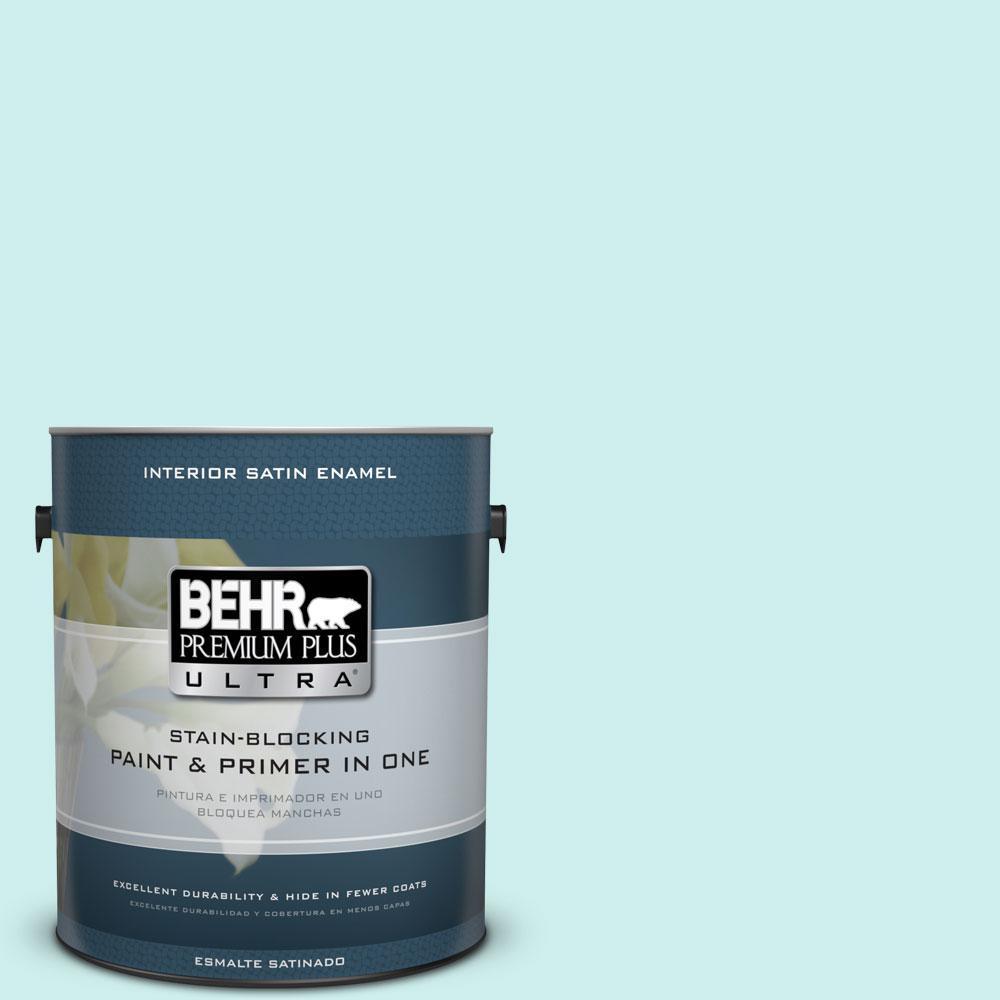 BEHR Premium Plus Ultra 1-gal. #510C-1 Ionic Sky Satin Enamel Interior Paint