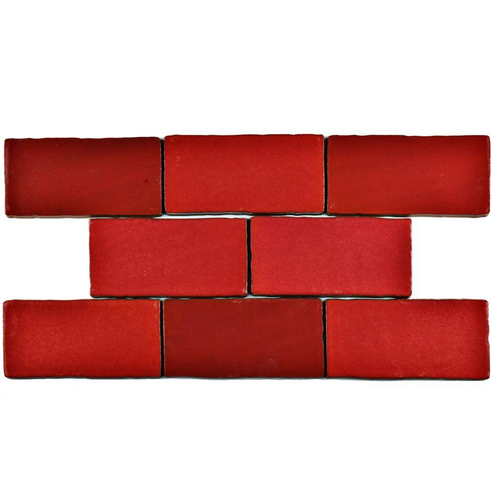 Red Ceramic Tile Tile The Home Depot