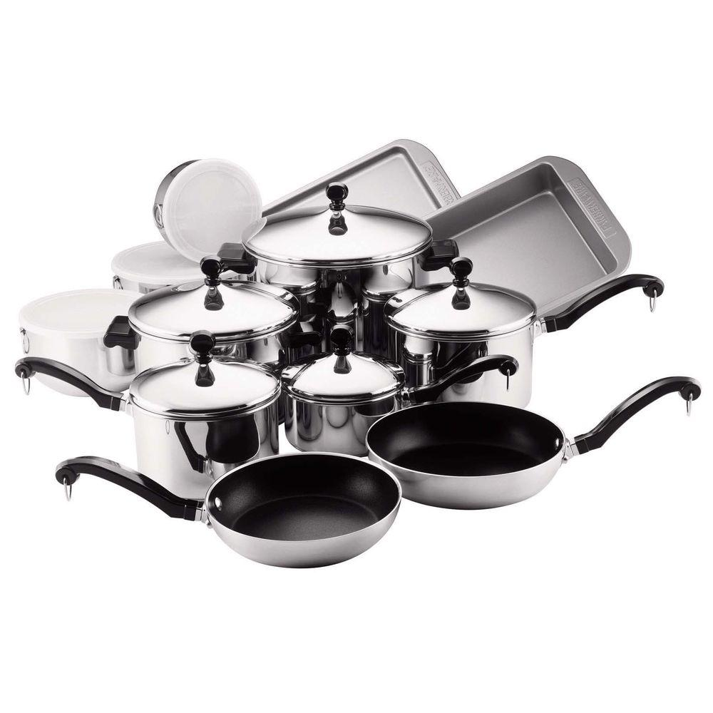 Classic Series 17-Piece Stainless Cookware Set with Lids