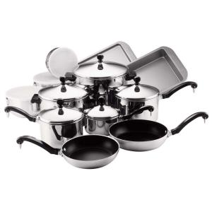 Farberware Classic Series 17-Piece Stainless Cookware Set with Lids by Farberware