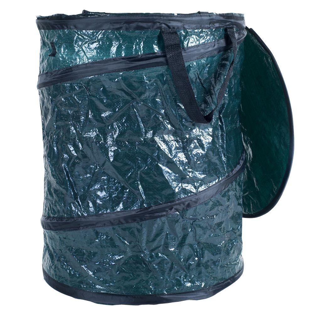 texsport 33 gal green collapsible utility bin trash can with lid 75
