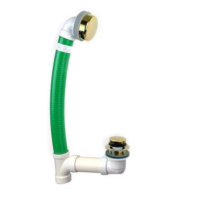 Innovator Flex924 24 in. x 1.5 in. Flexible Bath Waste with Foot Actuated Stopper and Innovator Overflow, Polished Brass