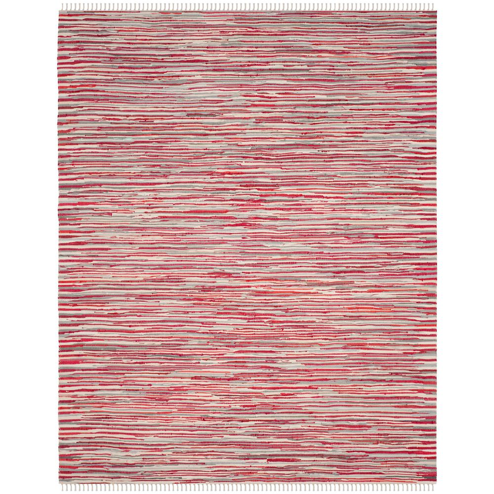 Safavieh Rag Rug Red/Multi 8 ft. x 10 ft. Area Rug