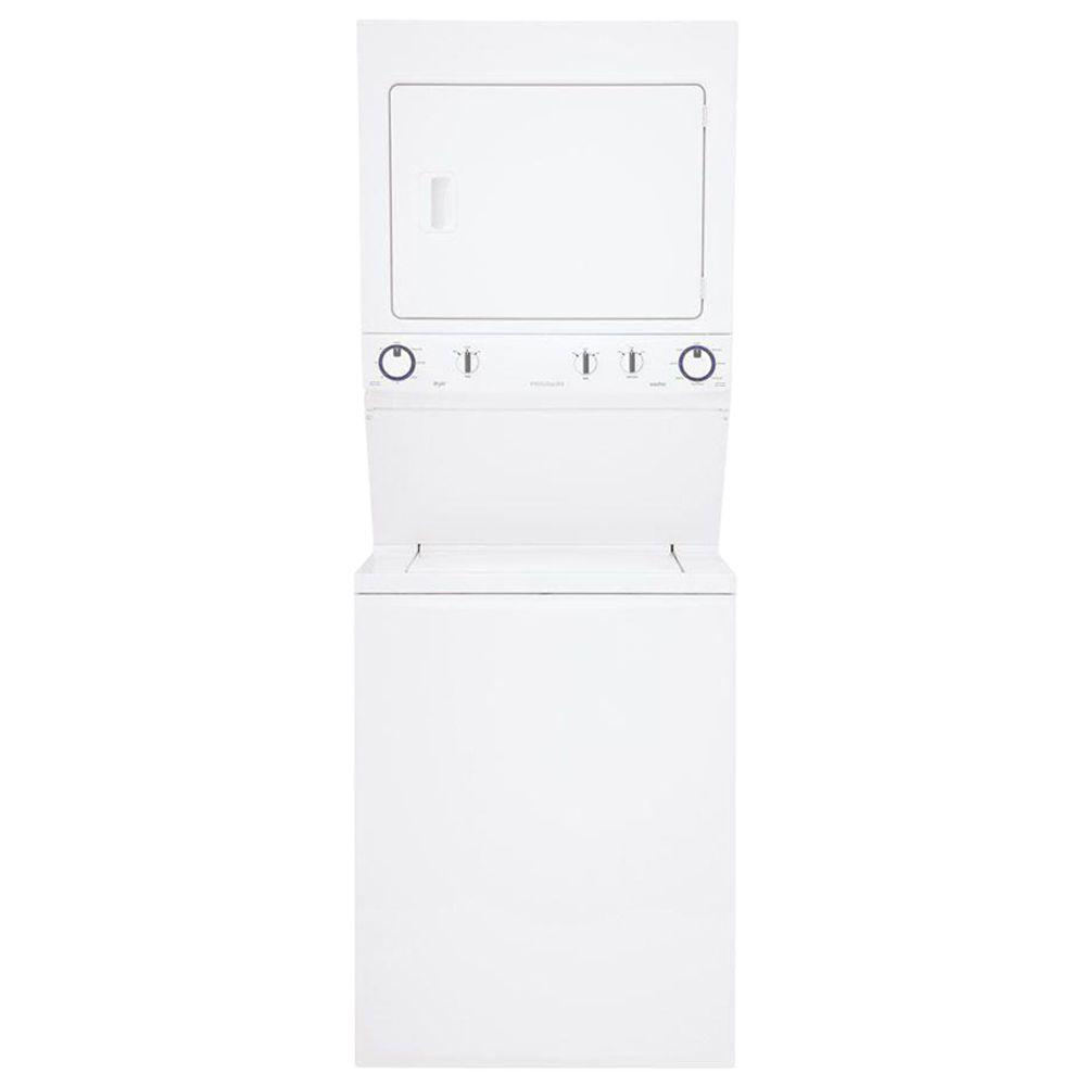 Frigidaire High-Efficiency Unitized 2.95 cu. ft. Washer and 5.5 cu. ft. Electric Dryer in White