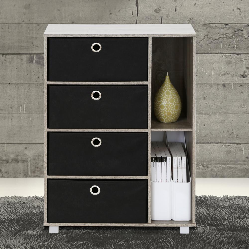 safavieh damien 3-drawer wood storage unit in vintage grey