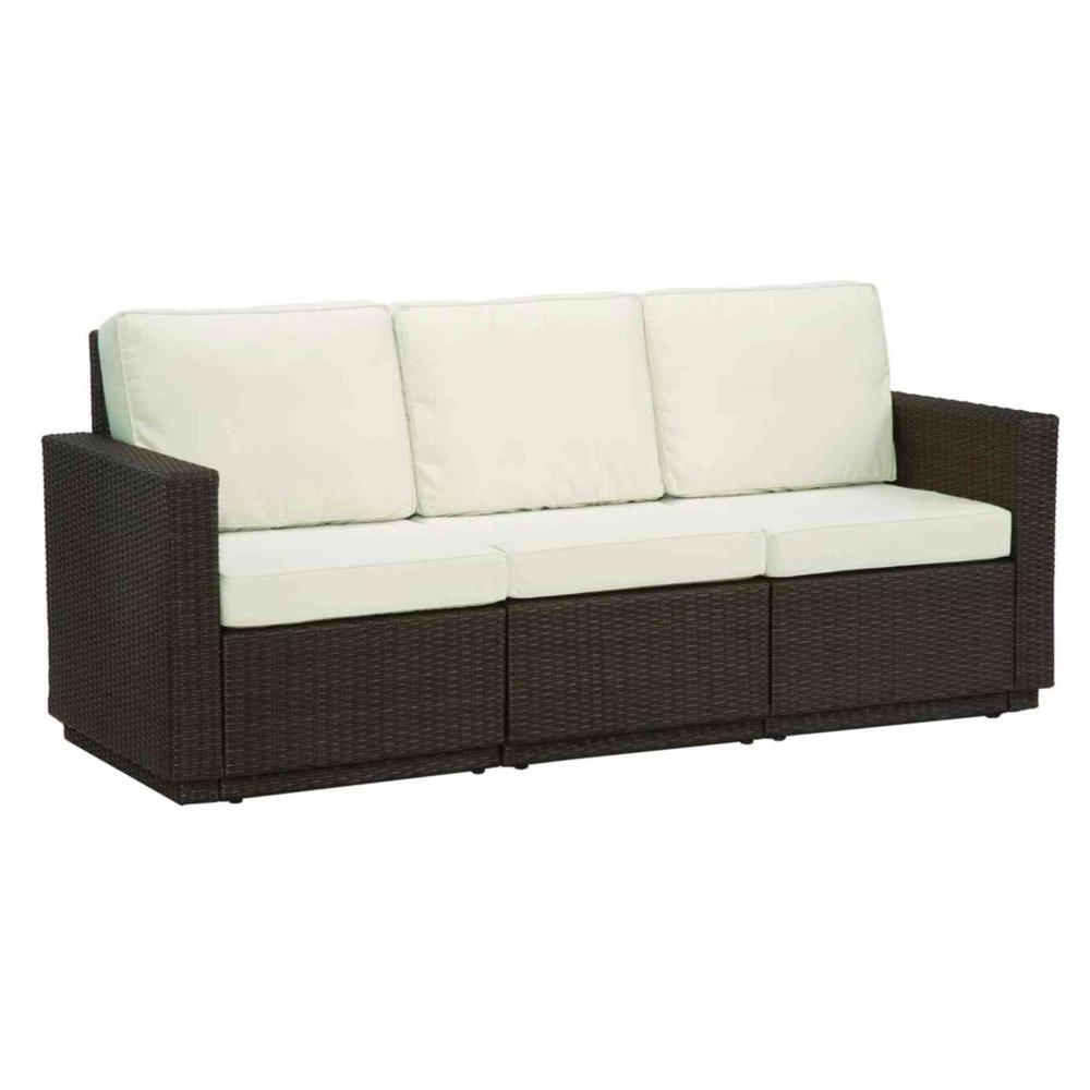 Home Styles Riviera Stone 3-Seat Patio Sofa