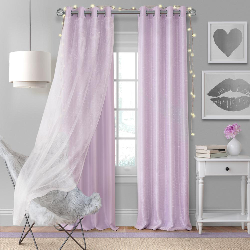 Elrene Home Fashions Aurora Kids Room Darkening Layered Sheer Window Curtain