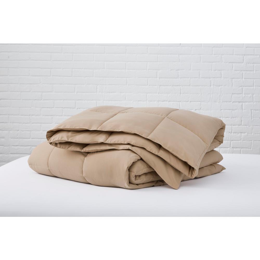 Khaki Microfiber Twin Comforter