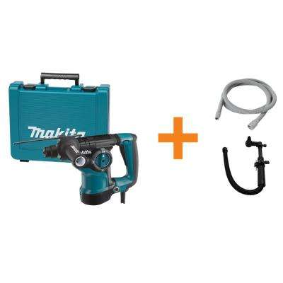 7 Amp 1 in. Corded SDS-Plus Concrete/Masonry AVT Rotary Hammer Drill w/ Vacuum Hose, SDS-Plus Dust Collection Attachment